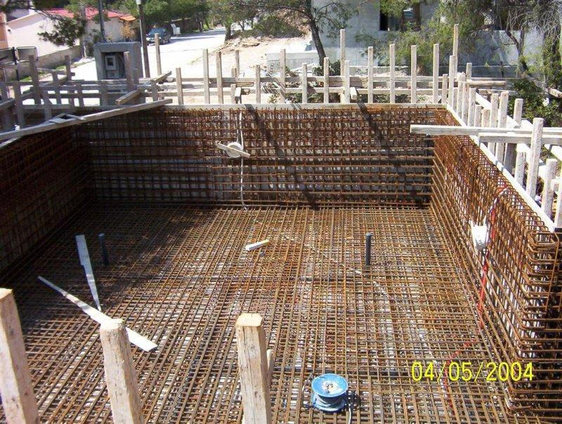 Conventional concrete construction swimming pool